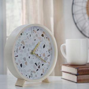 Terrazzo Table Clock
